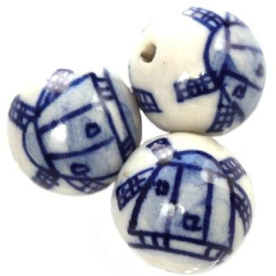 round traditional porcelain 15 mm