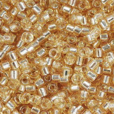 Miyuki Delica beads silver lined gold 1.6 x 1.3 mm DB-42