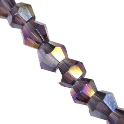 Crystaline toupies violet AB 3 mm / perles de cristal