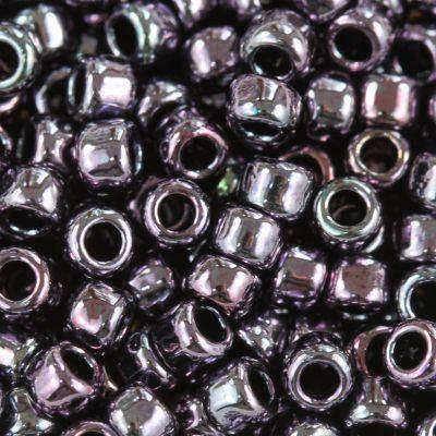 Toho round metallic amethyst gun metal 3 mm TR-08-90