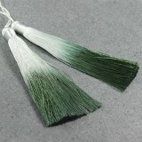 tassels ombre green 13 cm