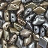 koraliki GemDuo grey rainbbow 8 x 5 mm