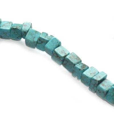 turquoise big chips synthetic / semi-precious stone synthetic