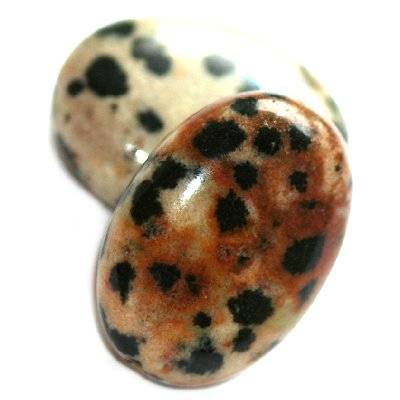oval jaspe dalmata 15 x 20 mm