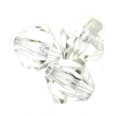 cristais de plástico de diamante transparentes 10 mm