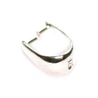 sterling silver 925 pendant clasp for Swarovski without loop