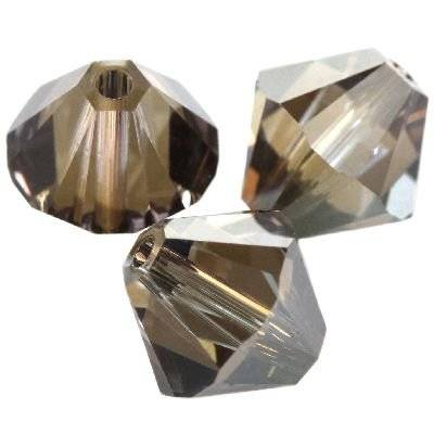 Swarovski bicone beads crystal bronze shade 4 mm