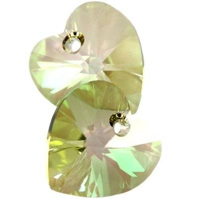Swarovski heart pendants crystal luminous green 14.4 x 14 mm