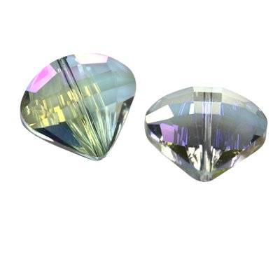 Cristaux de teinte argentée facettes plat perles ab coquille 18 mm