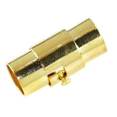 Magnetna zaponka s ključavnico zlatom 6 mm