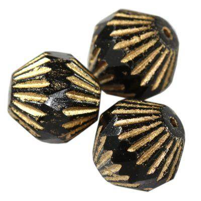bicones black gold 11 x 11 mm