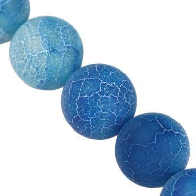fire agate beads fire blue 10 mm / semi-precious stone