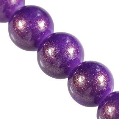 Perles Gold Powder classique prune 10 mm