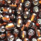 perles de graine de verre brun 3,5 mm