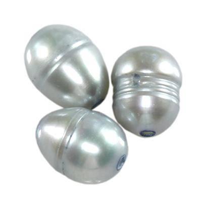 perełki słodkowodne 5 x 7 mm błękitne