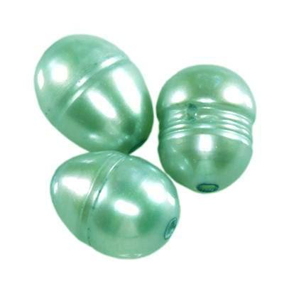 perle d'acqua dolce 5 x 7 mm azzurre