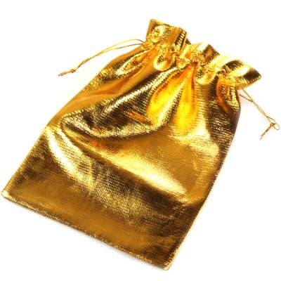 woreczek błyszczący złoty 13 x 18 cm