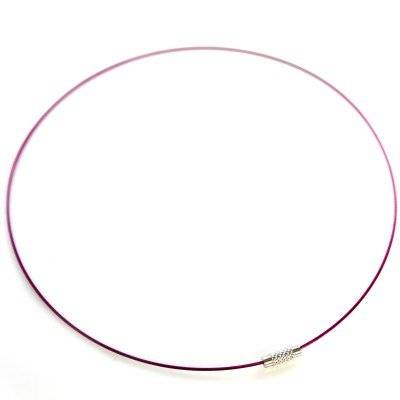 support collier tour de cou cable fuchsia