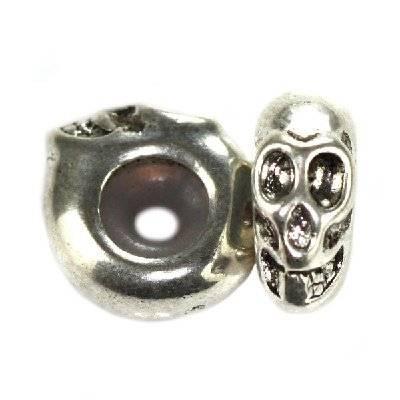 perles boules en métal séparateurs crânes 11.5 x 5.6 mm