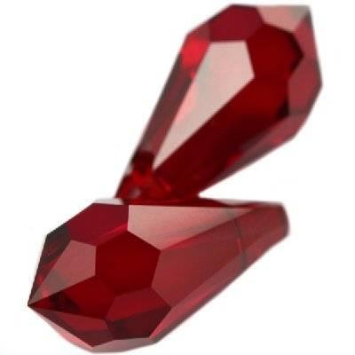 Swarovski drop pendants siam 15 x 7,5 mm