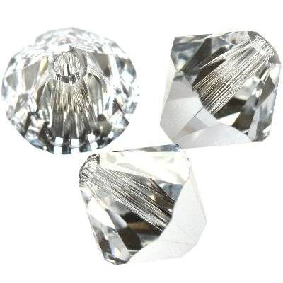 Swarovski bicone beads crystal comet argent light 6 mm