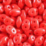 Koraliki SuperDuo opaque shade red 2,5 x 5 mm / koraliki dwudziurkowe