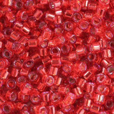 Miyuki Delica silver lined red dyed 1.6 x 1.3 mm DB-602