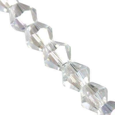 Kryształki CrystaLine bicones clear AB 4 mm