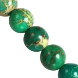 imperial jasper round turquoise 4 mm dyed stone