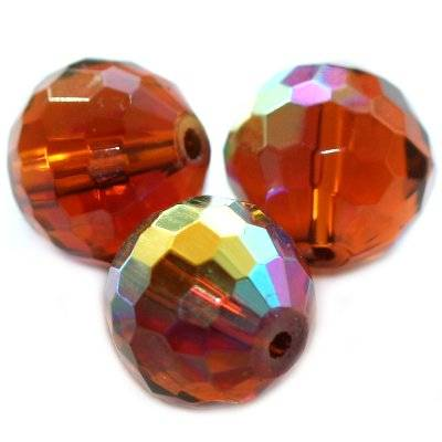 kule szlifowane połysk brązowe 12 mm / koraliki szklane