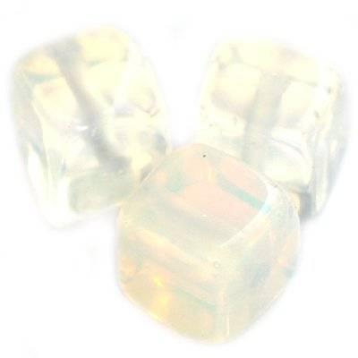 cubes opale blanche 8 mm