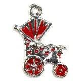pendentifs charms chariot rouge 18 x 14 mm
