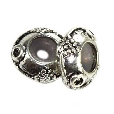 perles boules en métal séparateurs raisins 11.5 x 5.3 mm