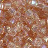 Toho beads cube trans-rainbow rosaline 1.5 mm TC-01-169