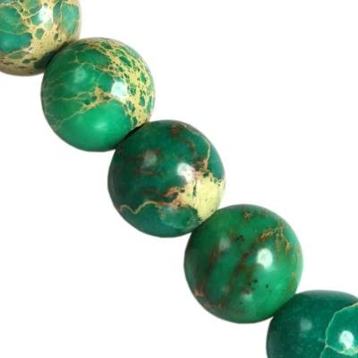 jaspis cesarski kule turkusowe 6 mm kamień naturalny barwiony