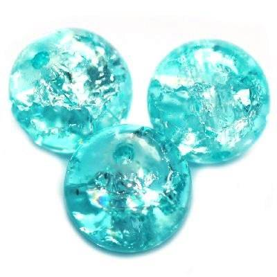 crackle beads beads blue 6 mm