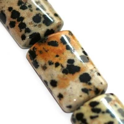 tehličky  jaspis dalmatínec 16 x 25 mm