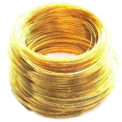 drut z pamięcią kolor złoty 11 cm