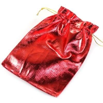 woreczek błyszczący czerwony 13 x 18 cm