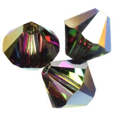 Swarovski bicone beads crystal vitrail medium 4 mm