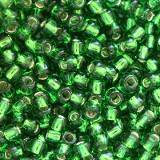 Toho beads round silver-lined grass green 2 mm TR-11-27B