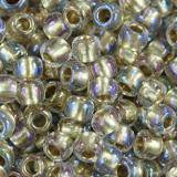 perline Toho round inside-color crystal/gold-lined 3 mm TR-08-262