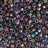Miyuki Delica metallic iris dark plum 1.6 x 1.3 mm DB-0004