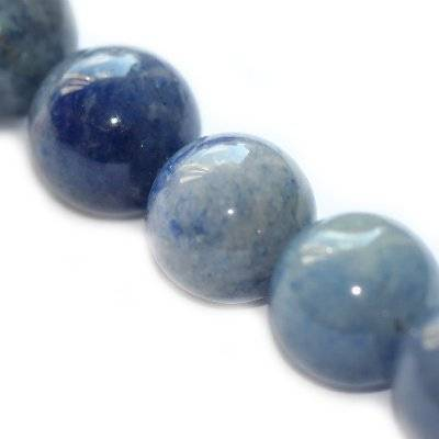 aventurine beads blue 12 mm / semi-precious stone