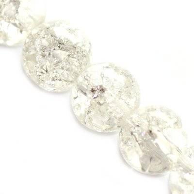 koraliki crackle kule białe 6 mm