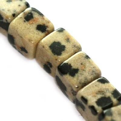 dalamtian jasper cubes 6 mm / semi-precious stone