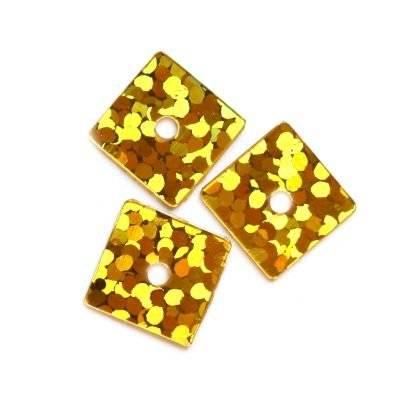 sequins laser squares gold 7 x 7 mm