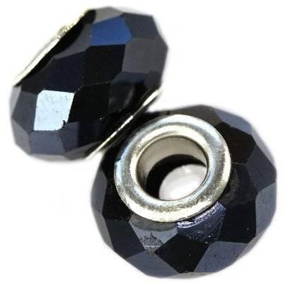 koraliki modułowe kamień hematyt 10 x 14 mm