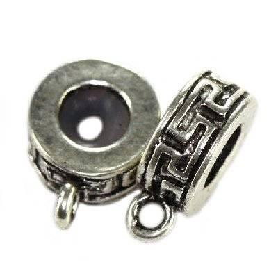 perles boules en métal séparateurs zigzags 10.6 x 5.3 mm