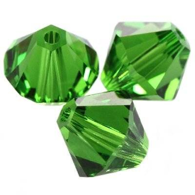 Swarovski bicone beads fern green 4 mm